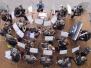 Konzertorchester-Auftritt vor dem Konzerthaus in Freiburg 2002